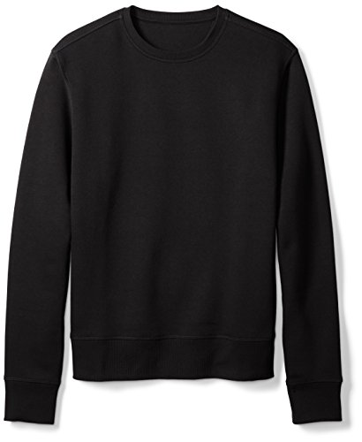 Amazon Essentials Men's Long-Sleeve Crewneck Fleece Sweatshirt, Black, X-Large