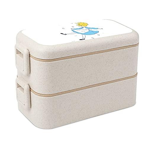 Alicia Wonderland - Cajas apilables para almacenamiento de alimentos portátiles, almuerzos escolares y para adultos y niños, seguridad y salud