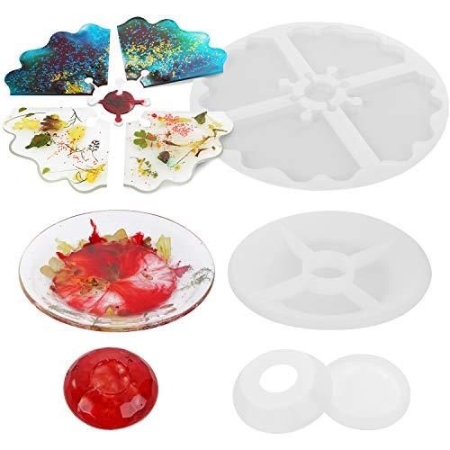 Molde de Joyería Collar Transparente de Silicona, Molde Silicona Resina para Hacer Joyerias, Moldes de Resina para Collar Pendiente Fabricación de Colgante Bolas Pulsera Creativo Bricolaje
