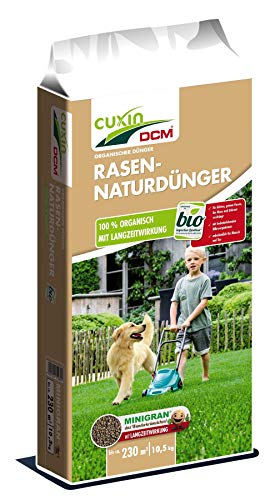 Cuxin Organischer Bio Rasendünger unbedenklich für Mensch und Tier (10,5 Kg)