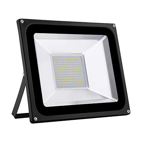 LED Strahler 10W 20W 30W 50W 100W 150W 200W 300W 500W 800W 1000W Warmweiß LED Wandstrahler Lampe Außenstrahler Aluminium Flutlicht Fluter 220V IP65 (1 Stück, 100W)