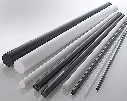 nattmann POM (Polyoxymethylen) Rundstab Rundstock Stab Ø 6-200 mm - Farbe: Weiß/Natur (90 mm, 245 mm)