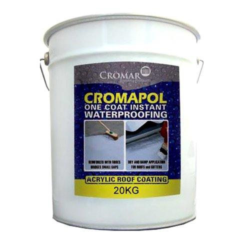 Cromapol Acrylic Waterproofing Coating Gray - 20 KG by Cromapol
