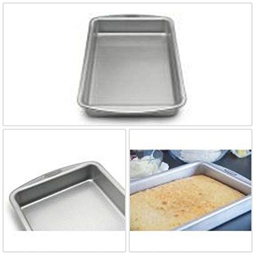 Unik Always Cake Pan Kitchen Accessory 9 x 13 inches Durable Aluminum Transitional Rectangle