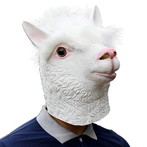 YXXHM- Tierische Alpaka-Maske, Latex-Gelatine-Maske, Requisiten, Halloween-Tieralpaka