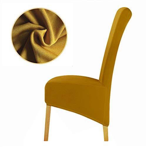 Seri babo 1 Stück Reine Farbe Einfarbig Große Stuhlabdeckung Elastische Sitz Stuhlhussen Stretch Mustard XL Size