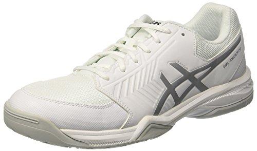 Asics Gel-Dedicate 5, Scarpe da Tennis Uomo, Bianco (White / Silver), 42.5 EU