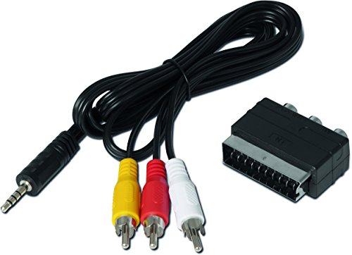 TechniSat Klinken-Cinch/SCART Adapterset für TechniSat Receiver (passend zu TECHNISTAR S5, TECHNISTAR S6, DIGIPAL T2 DVR, DIGIT S3 DVR und weiteren Geräten) schwarz