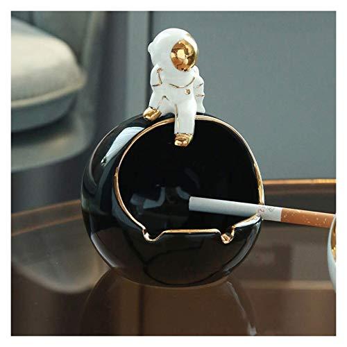 Guuisad Patio exterior Cenicero, Ashtray Home AshTray Forma creativa Cenicero de cerámica con tres ranuras para tarjeta de cigarrillo para cumpleaños El mejor cenicero de la elección al aire libre