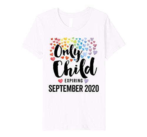 Kids Only Child Expiring September 2020 Pregnancy Announcement Premium T-Shirt