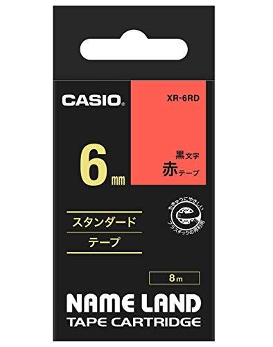 ネームランド スタンダードテープ 赤 XR-6RD [黒文字 6mm×8m]