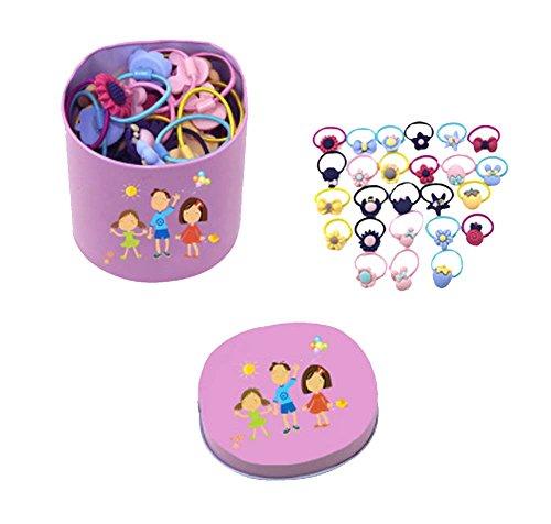 Banda de goma del juego mezclado de los niños/pequeña horquilla 40PCS del círculo del bebé