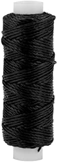 Tandy Leather Waxed Nylon Thread 25 yds. (22.9 m) Black 1227-01