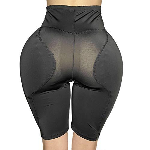 2PS Sponge padded Women Butt Hip Up Padded Enhancer 852 (2XL, High waist Black)