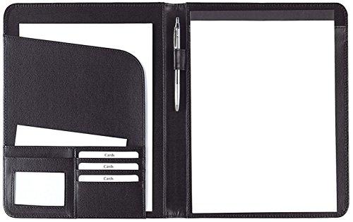 Preisvergleich Produktbild Schreibmappe - A4,  Kunstleder,  schwarz