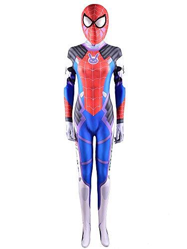 NVHAIM Niños para Adultos Spiderman Stretch Body, Anime Stage Costume Boys Trajes de superhéroes Traje Body Lycra Onesies Malla de Malla Mascar,Kid XL