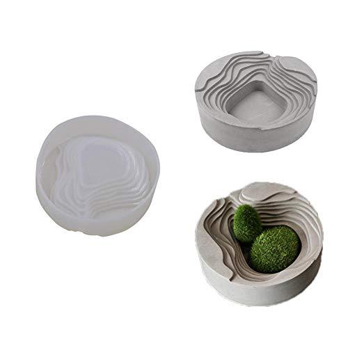 Funihut Silicona Molde, Silicona Arte Cemento cenicero Cemento cenicero hormigón Placa de diseño de Silicona