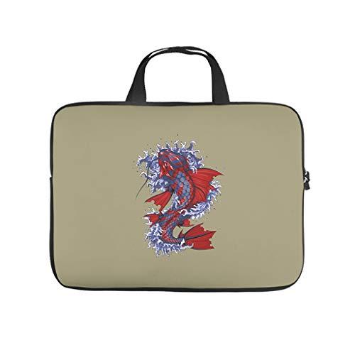Japanese Koi Fish Laptop Bag Waterproof Notebook Sleeve Pattern Notebook Bag for University Work Business