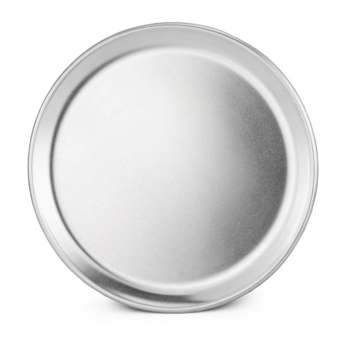 New Star Foodservice 50790 Restaurant-Grade Aluminum Pizza Pan, Baking Tray, Coupe Style, 8-Inch