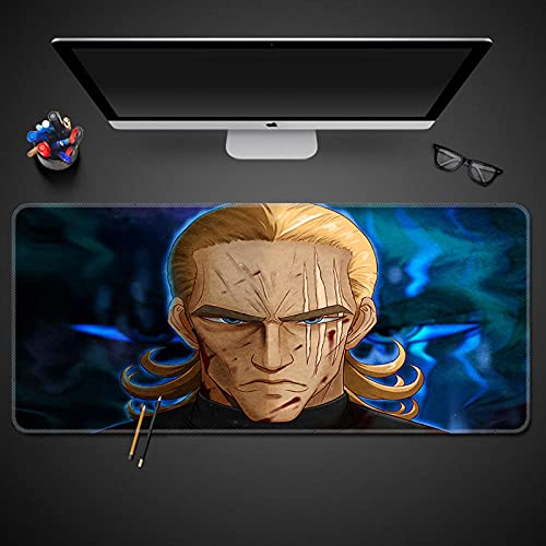 XZTXNL Un Golpe Hombre Alfombrilla de ratón 900x400x3mm esterillas de muñeca Resto Alfombrilla de ratón de Ordenador Accesorios de Juego Anime Alfombra para ratón Teclado Juegos de pc Gamer