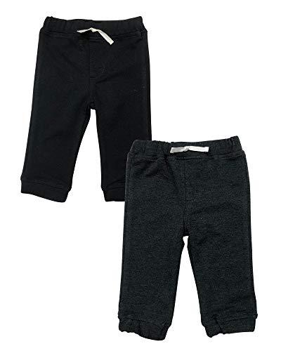 Coccolato Set de 2 Pantalones/Joggers para Niño/Casual y Deportivo/Tela Ligera y Transpirable/Colores Marino y Gris (Oxford/Negro, 4 años)