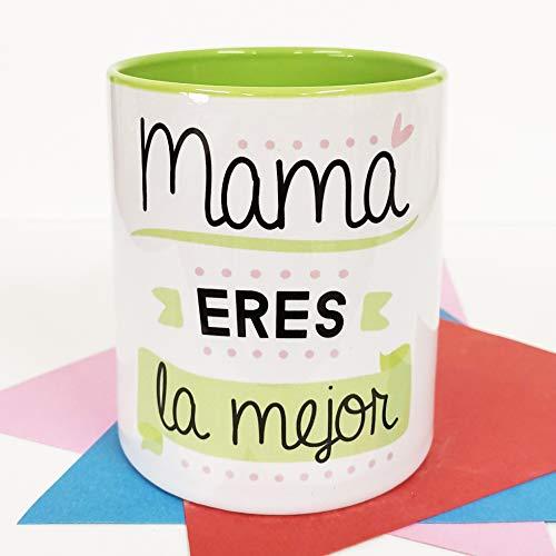 La mente es Maravillosa - Taza con Frase y Dibujo Divertido (Mamá Eres la Mejor) Regalo Original para MAMÁ