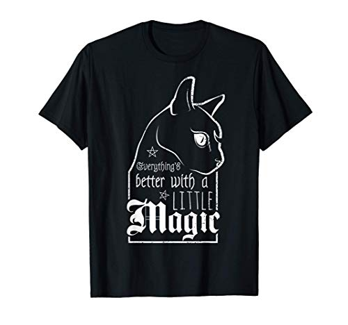 Witch a little Magic   Goth Gothic   Witch Wicca Witchcraft T-Shirt