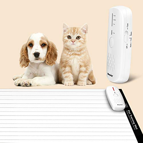 morpilot Pet Training Mat, Shock Mat for Cats Dogs, 60 x 12 Inches Pet Shock Mat with 9V Battery, 3 Training Modes, Smart Protection System, Repellent Mat Keep Pets Off Furniture Couch Sofa