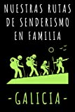 Nuestras Rutas De Senderismo En Familia - Galicia: Libro De Registro De Rutas Con Plantillas Para Que Puedas Anotar Todos Los Detalles De Tus Excursiones - 120 Páginas