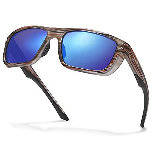 Carfia Gafas de Sol Hombre Deportivas Polarizadas TR90 UV400 Protección para Deporte y Aire Libre Ciclismo Conducción Pesca Esquiar Golf Correr