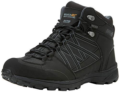 Regatta Samaris Mid II, Walking Shoe Mens, (Black/Granite 9v8), 42 EU
