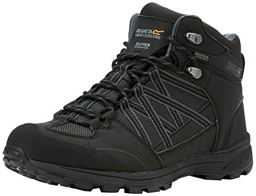 Regatta Samaris Mid II, Walking Shoe Mens, (Black/Granite 9v8), 43 EU