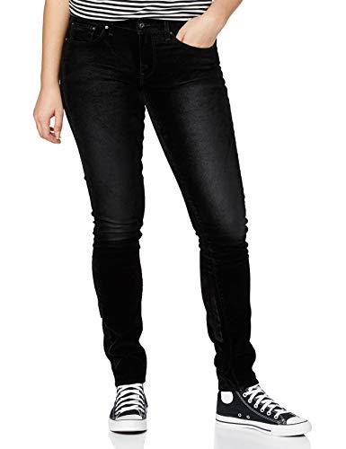 G-STAR RAW Womens 3301 Mid Waist Skinny Jeans, Black iced Flock C478-B699, 27W / L32