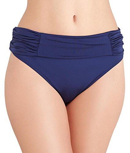 Panache Women's Marina Fold Bikini Bottom, Red, Large