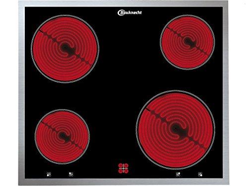 BAUKNECHT CHR 6640 IN Glaskeramik-Kochfeld iQ 300 / Glaskeramik Elektro / Edelstahlrahmen / 60 cm /