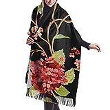Bufanda de mantón Mujer Chales para, Unisex 's moda chal largo tiburón patrón sin costuras bufanda de invierno Cashmere Feel Pashmina chal envuelve suave cálido
