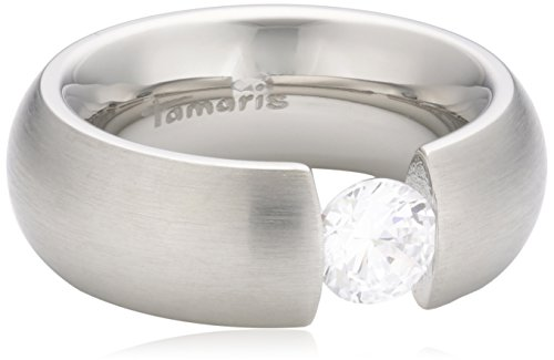 Tamaris Damen-Ring Edelstahl Zirkonia weiß Gr.54 (17.2) A02810013