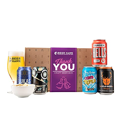 Beer Hawk Thank You Craft Beer Selection Box - Perfect Craft Beer Hamper Gift One Size AMX070-1