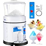 VEVOR 110V Commercial Ice Shaver Crusher 1100LBS/H with 17.6 LBS Hopper, 350W Tabletop Electric Snow Cone Maker 320 RPM Rotate Speed Perfect For Parties Events Snack Bar