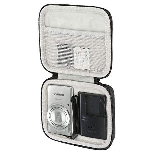 Khanka Hard Travel Case Replacement for Canon PowerShot ELPH 180/190 / 360 Digital Camera (Black)
