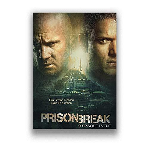 h-p Prison Break Classic TV Series Lienzo Arte Pintura Al Óleo Cartel Decoración del Hogar Mural Sin Marco50X60Cm U10160