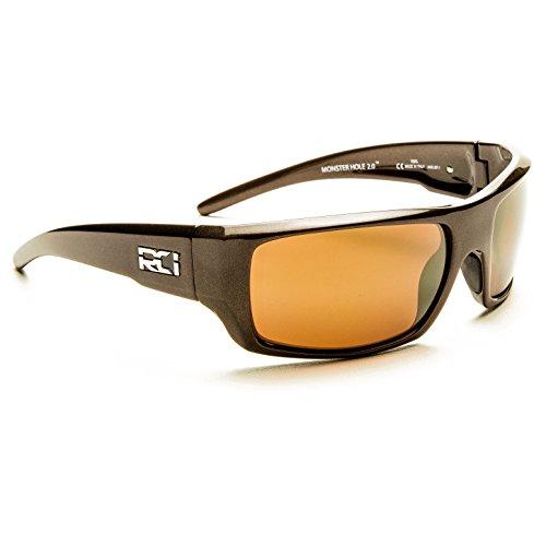 RCI OPTICS Monster Hole 2.0 100 Percent Polarized Distortion Free Sunglasses (Metallic Teak, Copper Sunrise gold)