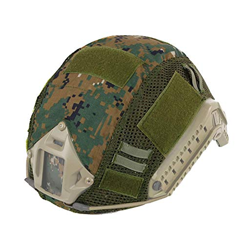 ATAIRSOFT Tactical Military Combat Helmet Cover Airsoft Paintball Wargame Gear for PJ/BJ/MH Type Fast Helmet DW