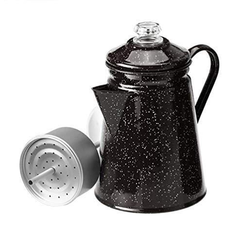 GSI コーヒーパーコレーター ホウロウ 8カップ用 ブラック 11870090001000 23×14.8φcm (底面)