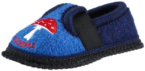 Adelheid Glückspilz Kinderwollhausschuh Lauflernschuhe, Blau (Mittelblau / 214), 26 EU