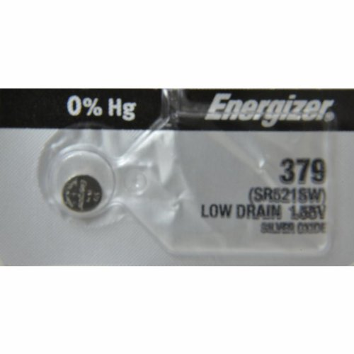Energizer Silberoxid-Knopfzelle/Uhrenbatterie; 1,55V in der Blisterverpackung, 379 SR521SW SB-AC