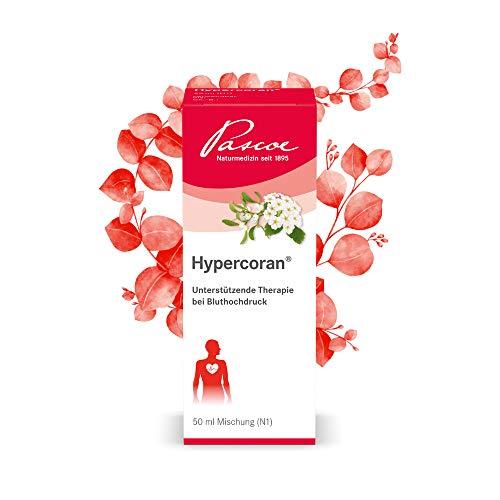 Pascoe® Hypercoran: natürliche Unterstützung bei Bluthochdruck - mit Mistel & Weißdorn - gut kombinierbar mit anderen Medikamenten, wie klassischen Blutdrucksenkern - vegan - 50 ml