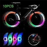 Lámpara de Flash de neumáticos Rueda de Ciclismo habló luz Luz de la llanta de Bicicleta Obtén un 100% de Brillo y Visibilidad Desde Todos los Ángulos,Azul,10PCS