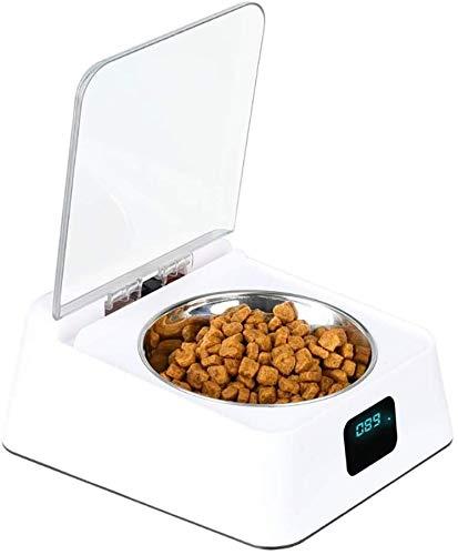Kom van het Voedsel for huisdieren, Smart Feeder Kat En Hond Bowl Automatische Inductie Kom van het Voedsel met open deksel Insect tegen vocht, 1 dmqpp (Color : 1)