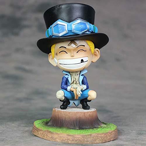 KPSHY Ein Stück Anime Kindheit Saab Bandage Figur Puppen Dekoration Premium-Version Statue Puppe Skulptur Spielzeug Dekoration Modell Puppe Höhe 16cm